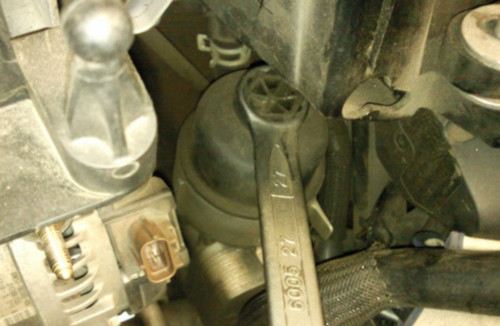 как поменять масленный фильтр на ford s-max