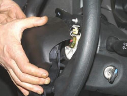 как установить лежак на руль